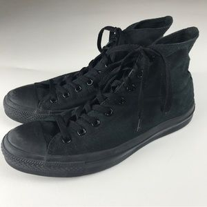 all black converse trainers